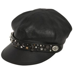 Coach 1941 Star Studded Leather Moto Hat NEW $325